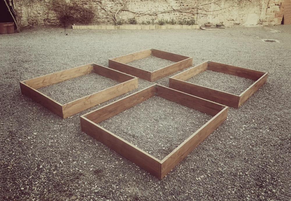 Fabrication d'un carré potager pour mes lapins et moi
