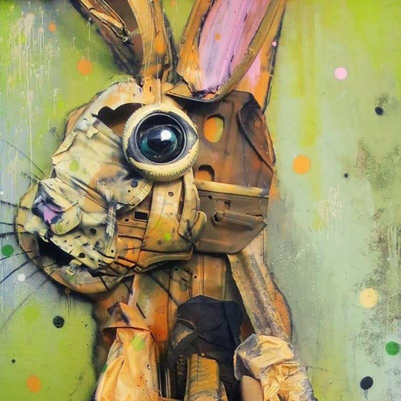Bordalo, l'artiste qui transforme les déchets en animaux