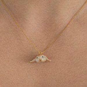 Le collier Mia en porcelaine
