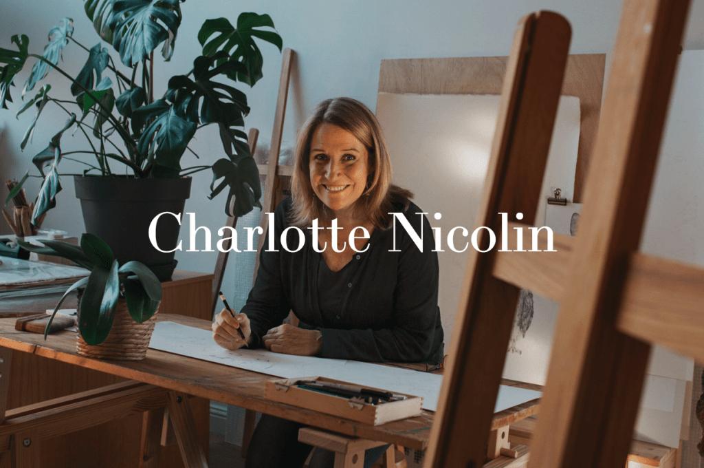 Charlotte Nicolin, une artiste qui a le sens du détail.